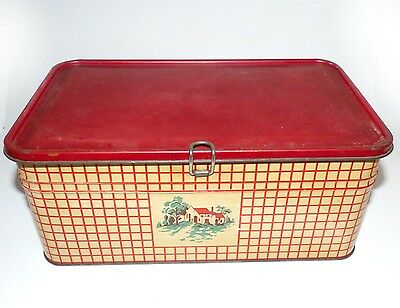 Vintage Golden Cookies Check Tin Box Watertown MA
