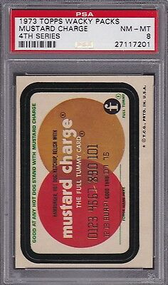 1973 Wacky Packages MUSTARD CHARGE PSA 8 NM/MT Series 4 Packs   TOUGH!