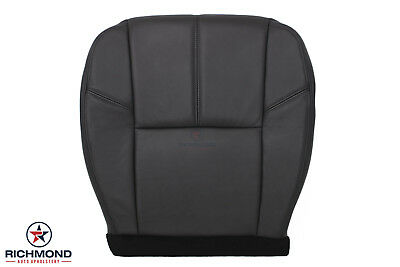 2009 Chevy Suburban LT LS Z71-Driver Bottom Replacement Leather Seat Cover Black