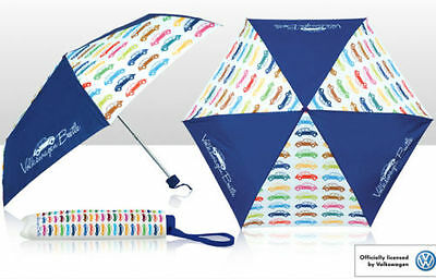 VW Beetle Multi colour Folding Collapsible Umbrella Volkswagen Merchandise Gift