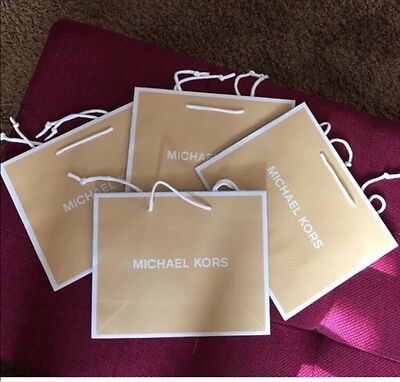 Lot Of 4 Small Michael Kors Shopping Bags With Tissues