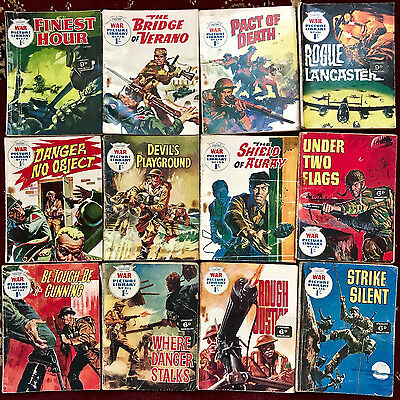 WAR PICTURE LIBRARY #175,176,178,181,182,184,199,203,207,213,214,218 comics x 12