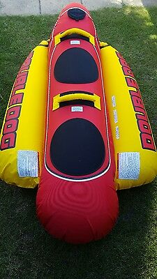 "Airhead Double Dog Towable Inflatable Carrys 2 Riders 76"" (193cm) Long"