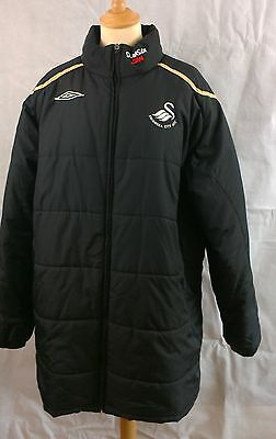 Swansea City AFC Black & Gold supporters coat  jacket Umbro size XL Extra Large