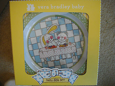 Vera Bradley Baby Dish Set 3 piece Easter bunny cup bowl plate collectible