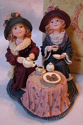 Boyds Bears Yesterday's Child Janette & Jill.. Tea for Two w/ Box 1st Edition