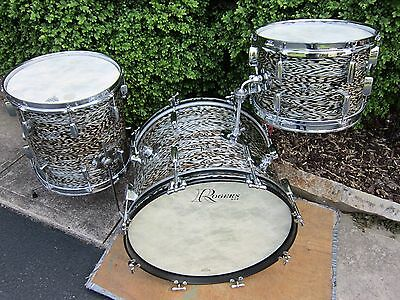 Rogers Holiday Buddy Rich Celebrity Drum Set 12 14 20 Black Onyx  Vintage 1963