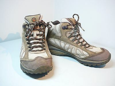 Ladies Womens Hiking Boots Merrell Siren Size 9 Gortex Waterproof Lined Leather
