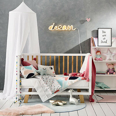 Adairs Kids Alexis Jersey Quilted Cot Quilt Cover Set - RRP $129.95