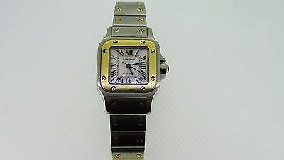 Cartier Santos Galbee Automatic 2423 18k Yellow Gold & Steel Ladies Watch
