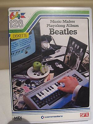 Vintage Commodore 64/128 Music Maker Playalong Album  The BEATLES