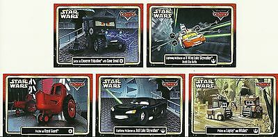 Star Wars: Disney / Pixar ~ CARS: SET OF 5 ~ Star Wars Weekends 2015