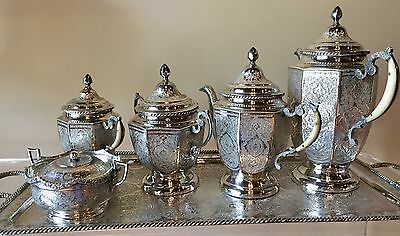 Persian Silver Tea Set , Tea Service, Iran
