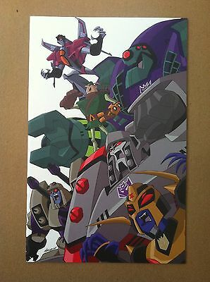Transformers Animated The Arrival #1 Ri 1:10 Variant Cover Nm 1St Printing Idw