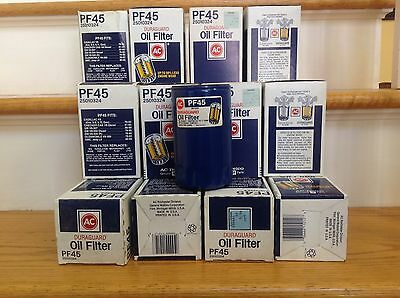 Lot of 12: AC DURAGUARD PF45 OIL FILTER NOS 25010324