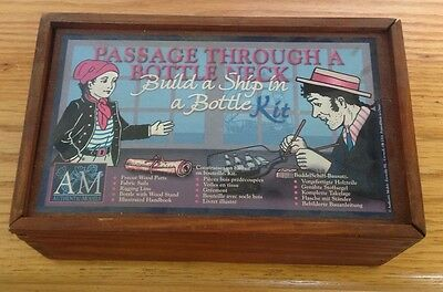 Am Authentic Models Passage Through Bottle Neck Build A Ship In A Bottle Kit New