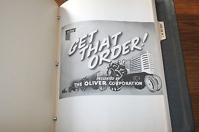 Rare Oliver Tractor Sales Manual for Dealers Delphos Ohio