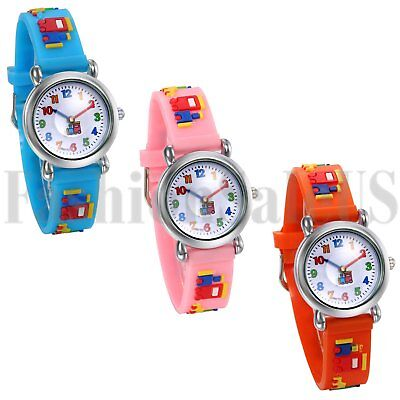 Fashion Cartoon Jelly Gel Silicone Boys Girls Kids Casual Quartz Wrist Watch New