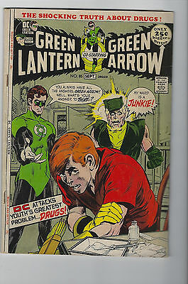 Green Lantern #85 (1971, DC) Drug Issue, Neal Adams, Denny O'Neil, G+/VG