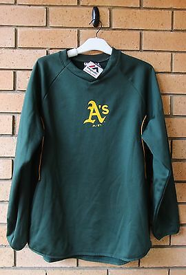 BNWT OAKLAND A's THERMABASE MLB BASEBALL MAJESTIC JUMPER LARGE RARE!