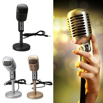3.5mm Pro Podcast Mic Studio Condenser Microphone For Desktop PC Notebook Skype
