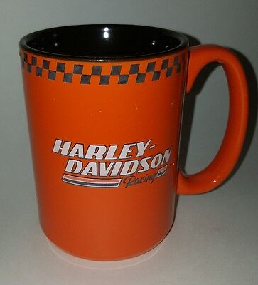 Harley Davidson Motorcycles Racing 1 Orange/Black Coffee Mug Cup