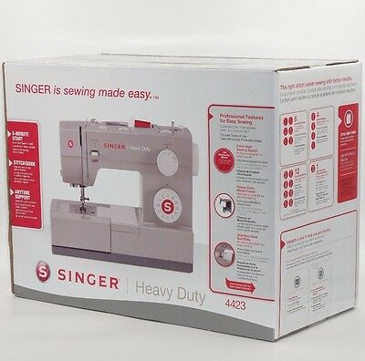 Singer Sewing Machine 4423 Heavy Duty with 23 Built-in Stitches and Accessories
