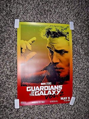 GUARDIANS OF THE GALAXY Vol. 2  Regal Limited Collectible Posters 5 Set & Bonus