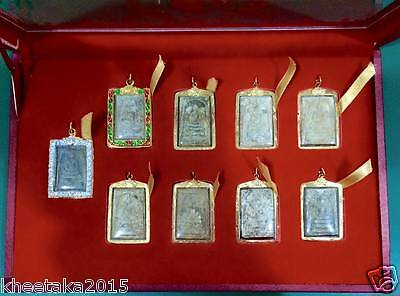 Genuine Thai Amulet Super Collection Set Phra Somdej Wat Rakang Dungeon Versions