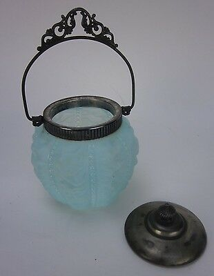Vintage Antique Victorian Consolidated Glass Biscuit Jar with Lid