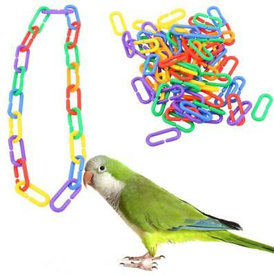 100pcs Plastic DIY C-clips Hooks Chain C-links Sugar Glider Rat Parrot Bird Toy