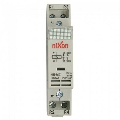 12Volt 20A 2Pole - 2NC - Din Rail Contactor ELECTRICAL FREE SHIPPING