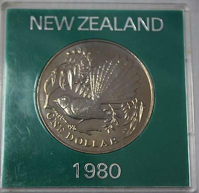 1980 New Zealand $1.00 Unc Coin