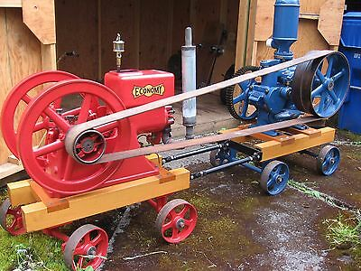 Hit and Miss Engine and Pump; Economy Engine and Goulds Pump