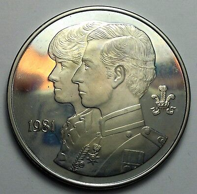 1981 Prince of Wales & Lady Diana Spencer  wedding medal, no case