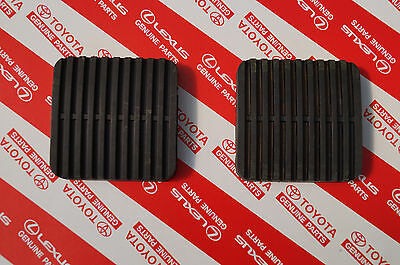 Genuine Toyota Landcruiser 40 and 60 Series Brake Clutch Pedal Pad Pair Square