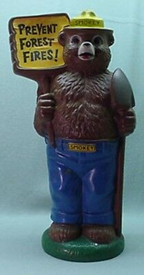 Rare Vintage 1972 plastic Smokey the Bear coin bank 14 inches tall