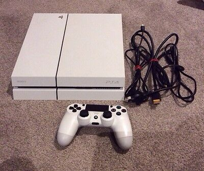 *SALE* Sony Playstation 4 Ps4 Console 500GB Glacier White + Controller + Cords