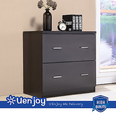 Lateral File Cabinet Drawers for Home Office Furniture in Black Finish