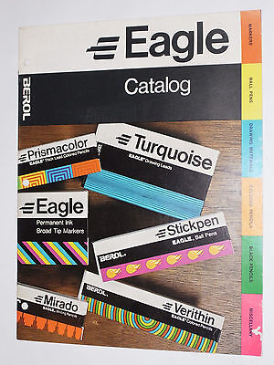 Vintage 1970 Eagle Pencil Catalog! Lead Holders/erasers/pens/markers/sharpeners!
