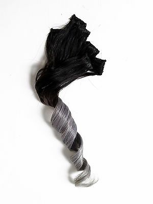 Full Head Set Clip in 100% Human Hair Extensions Silver Grey ombre for dark hair