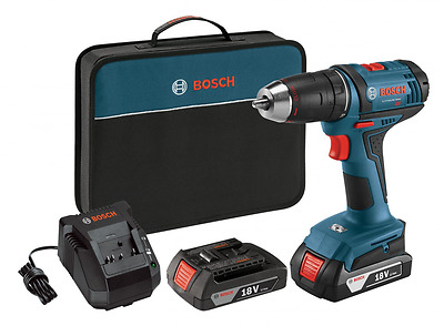 Bosch DDB181-02 18-Volt Lithium-Ion 1/2-Inch Compact Tough Drill/Driver Kit with