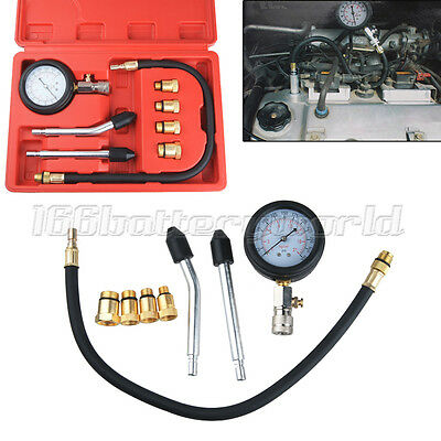 Petrol Engine Compression Tester Kit Set For Automotives and Motorcycles UK
