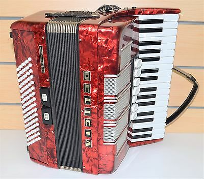 Delicia Arnaldo XIV Accordion Made in Czechoslovakia Red Great Condition #788275
