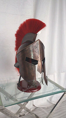 Antique Halloween Medieval Spartan Helmet Antique Reproduction Armor Larp Helmet
