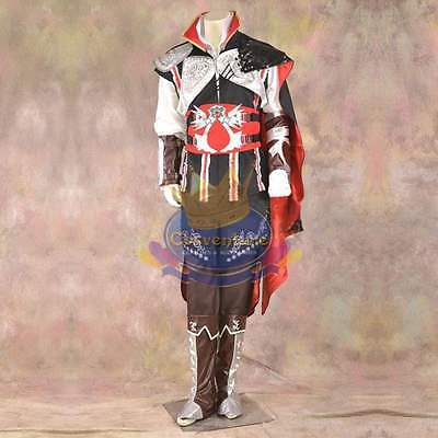 Assasins Creed Ezio Costume Cosplay Best Quality Custom Made Accessories Incl