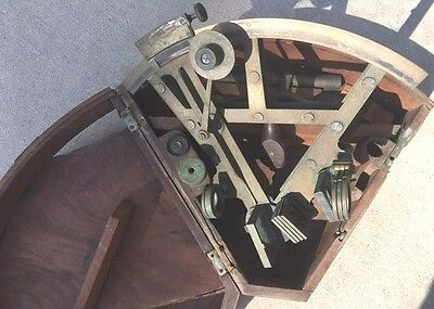 VINTAGE c1800's  SEXTANT/OCTANT NORIC&CO LONDON 013  WITH BOX BRASS