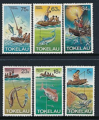 1982 Tokelau Fishing Methods Set Of 6 Fine Mint Mnh/muh