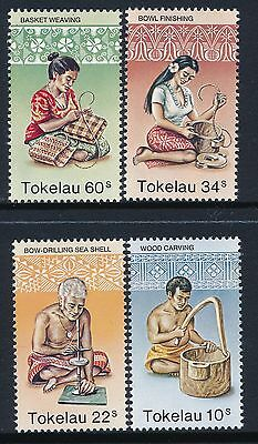 1982 Tokelau Handicrafts Set Of 4 Fine Mint Mnh/muh