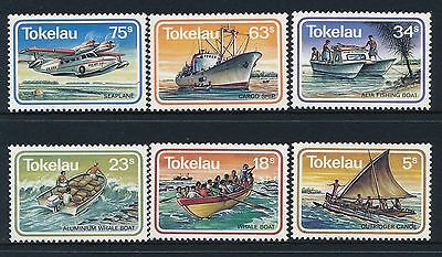 1983 Tokelau Ships & Boats Set Of 6 Fine Mint Mnh/muh